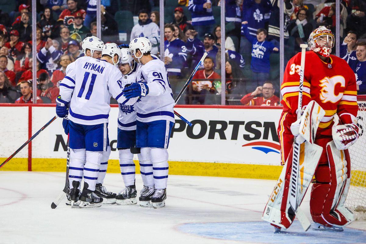 NHL: Toronto Maple Leafs at Calgary Flames