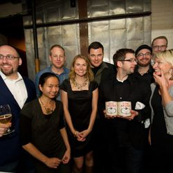 The PDX crew represents in NYC! Eater PDX editor Erin DeJesus stands second from left.