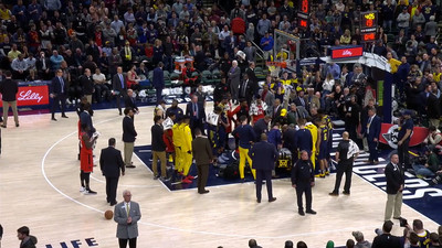 Screen Shot 2019 01 23 at 4.59.19 PM - Victor Oladipo stretchered off court with 'serious' knee injury