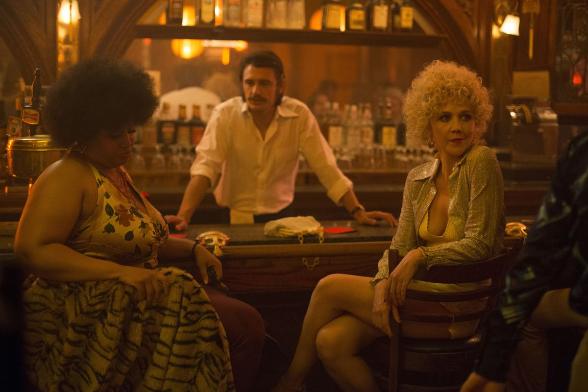 Still from 'The Deuce' where two women are sitting at a bar