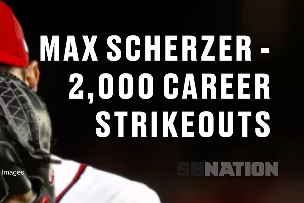 Max Scherzer third-fastest pitcher to reach 2000 career K's