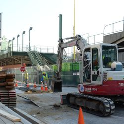 11:36 a.m. One last view of the utility excavation work taking place on Waveland -