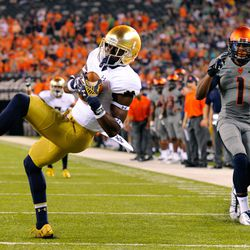 Torii Hunter spins into the endzone!