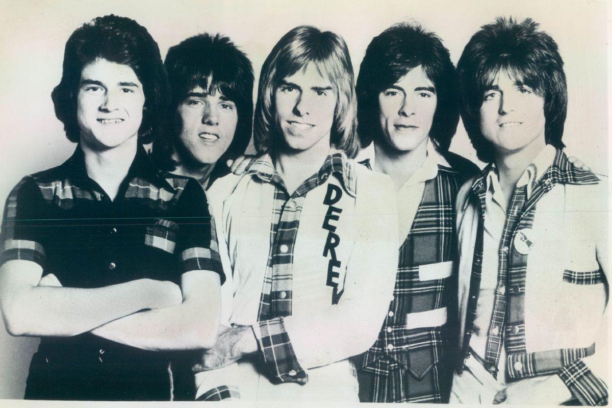The Bay City Rollers featured Les McKeon (from left), Stuart wood, Derek Longmuir, Alan Longmuir and Eric Faulkner.