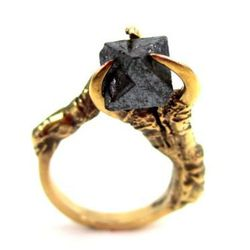 "<b>Eilisain Jewelry</b> triple crow claw ring, <a href=""http://www.eilisainjewelry.com/gallery/44697/the-hunted-"">$300</a>"