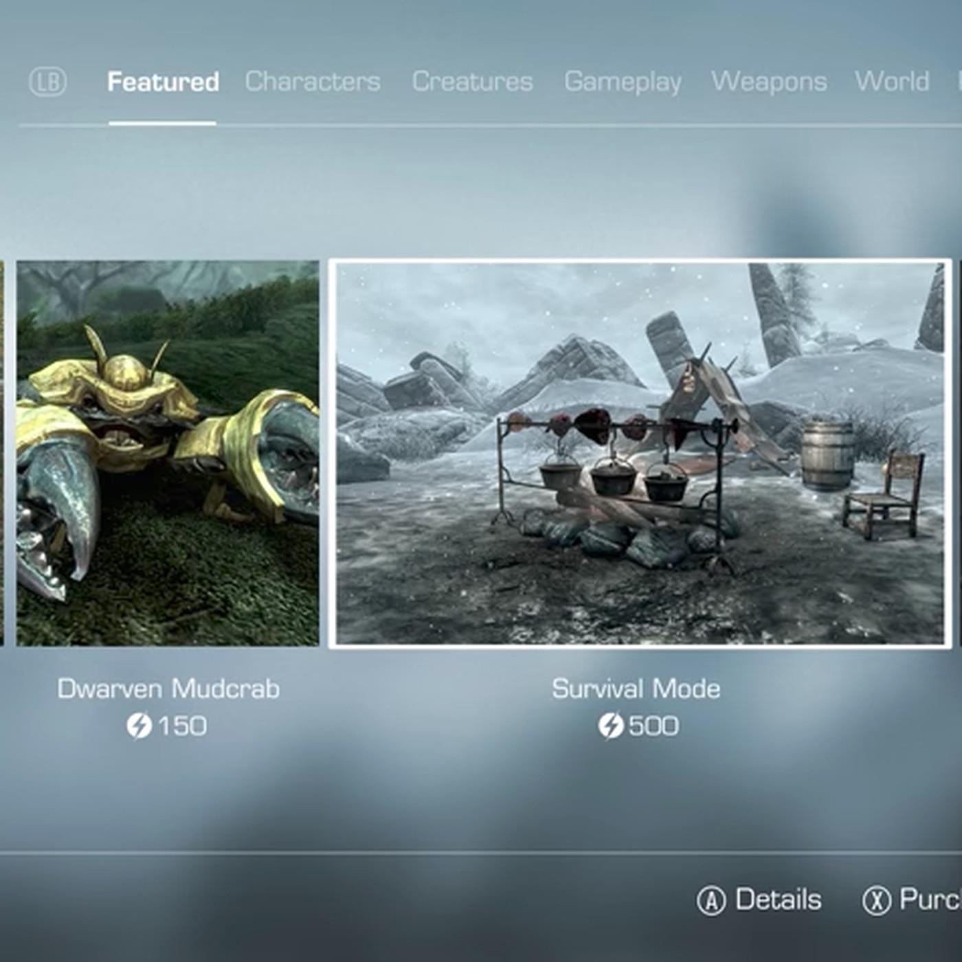 Bethesda's new DLC marketplace won't sell existing Skyrim