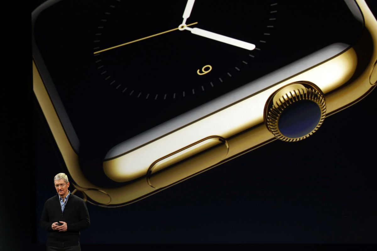 This is what the most expensive Apple Watch looks like when you blow it up around 1,000 times