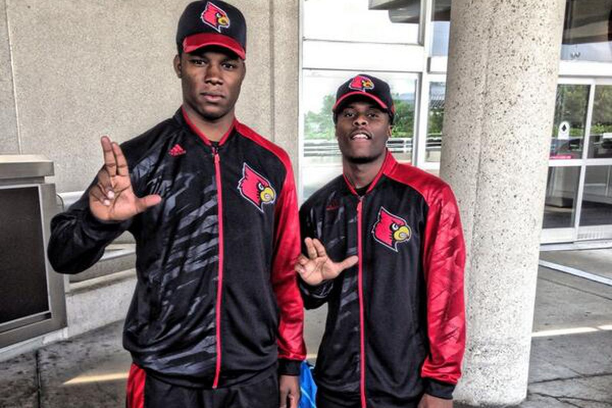Shaq Wiggins tweeted this picture announcing he and former high school teammate JaQuay Williams were transferring to Louisville.