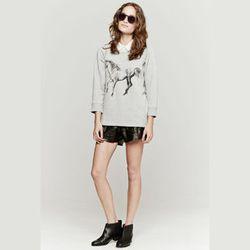 "<strong>Tess Giberson</strong> Animal Print Sweatshirt, <a href=""http://www.shopbop.com/animal-print-sweatshirt-tess-giberson/vp/v=1/1587956220.htm?fm=search-viewall-shopbysize"">$235</a> at Carrots"