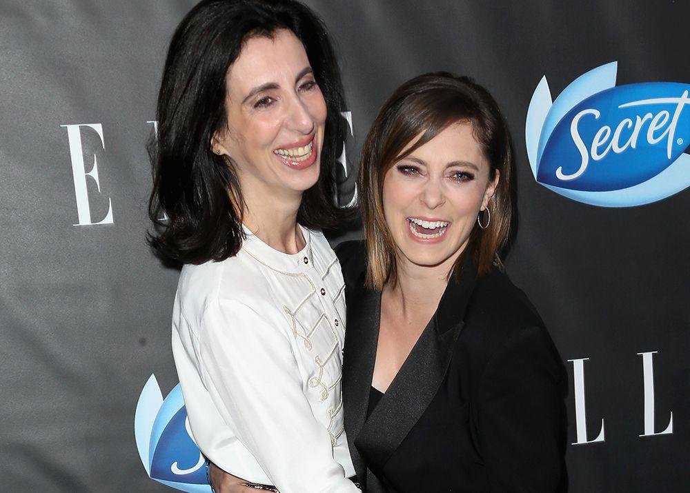 Aline Brosh McKenna and Rachel Bloom at Elle Women in Comedy
