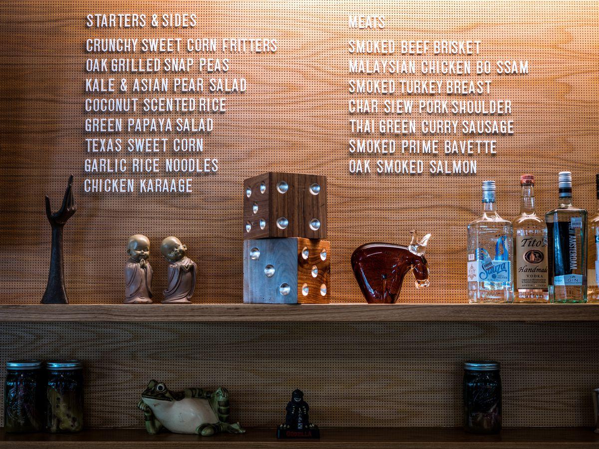 The menu at Loro