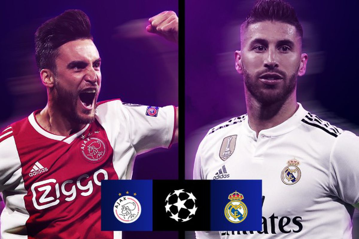 870eab7a1 Real Madrid draw Ajax in 2018-19 Champions League Round of 16 ...