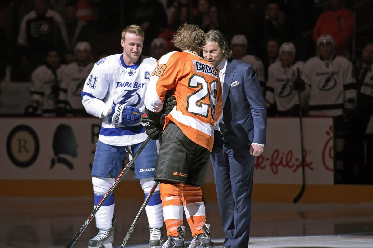 friends and future teammates steven stamkos and claude giroux, can u believe it??? i can.