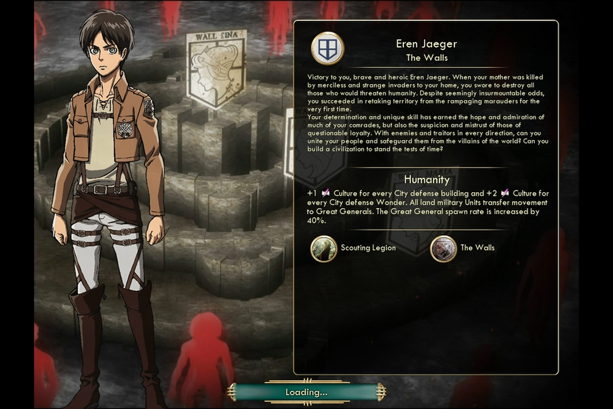Add a little 'Attack on Titan' to your Civ 5 game with this