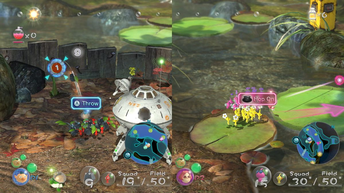 Play co-op in Pikmin 3 Deluxe