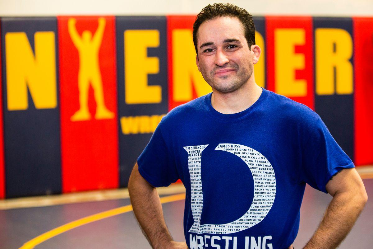 Wrestling coach Alexis Rivera