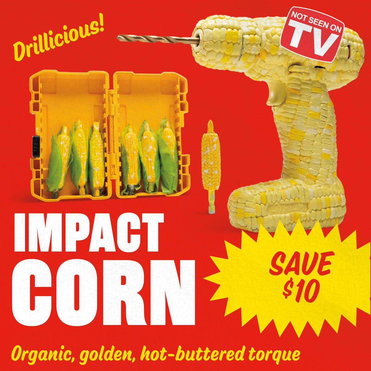 An ad for a product called Impact Corn
