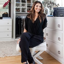"""<b>Alex Buronova, Producer</b>, wearing an Ella Moss Jumpsuit, Ettika bracelet, and Nine West shoes. <br> <b>Your closet is on fire! What three items do you save from the flames?</b> <br>  """"My favorite black cocktail Gucci dress that I wear to the fan"""