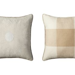 Pillow in Natural Plaid, $25
