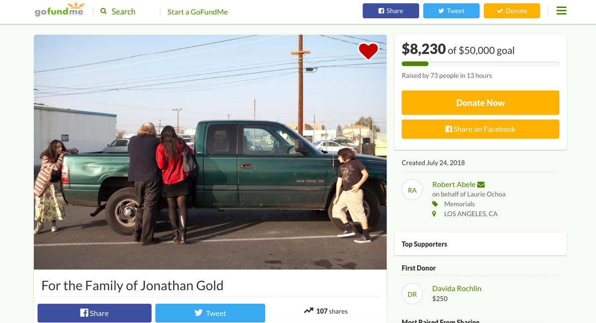 Jonathan Gold fundraiser