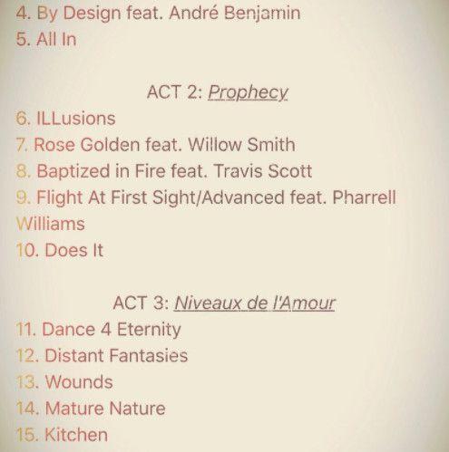 Kid Cudi album tracklist