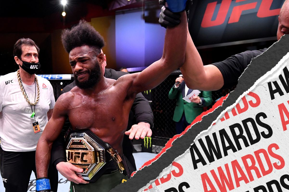 Aljamain Sterling, being awarded the UFC bantamweight title at UFC 259