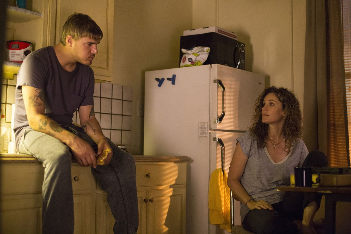 Chris Zylka and Amy Brenneman in The Leftovers.