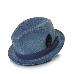 """<a href=""""http://www.forzieri.com/mens-hats/paul-smith/th313513-001-00/?"""">Paul Smith Straw Feather Trilby Hat</a>, $165 at Forzieri.com."""