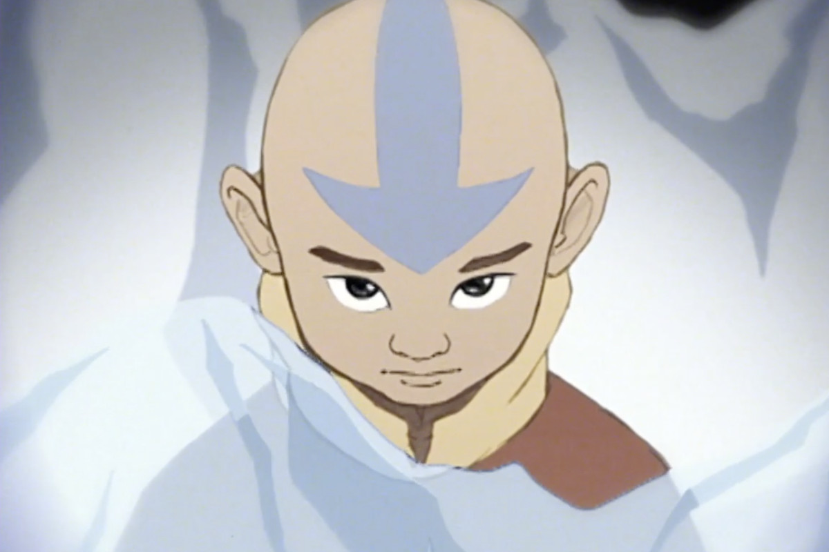 Aang, from the opening sequence of the unaired pilot for Avatar: The Last Airbender.