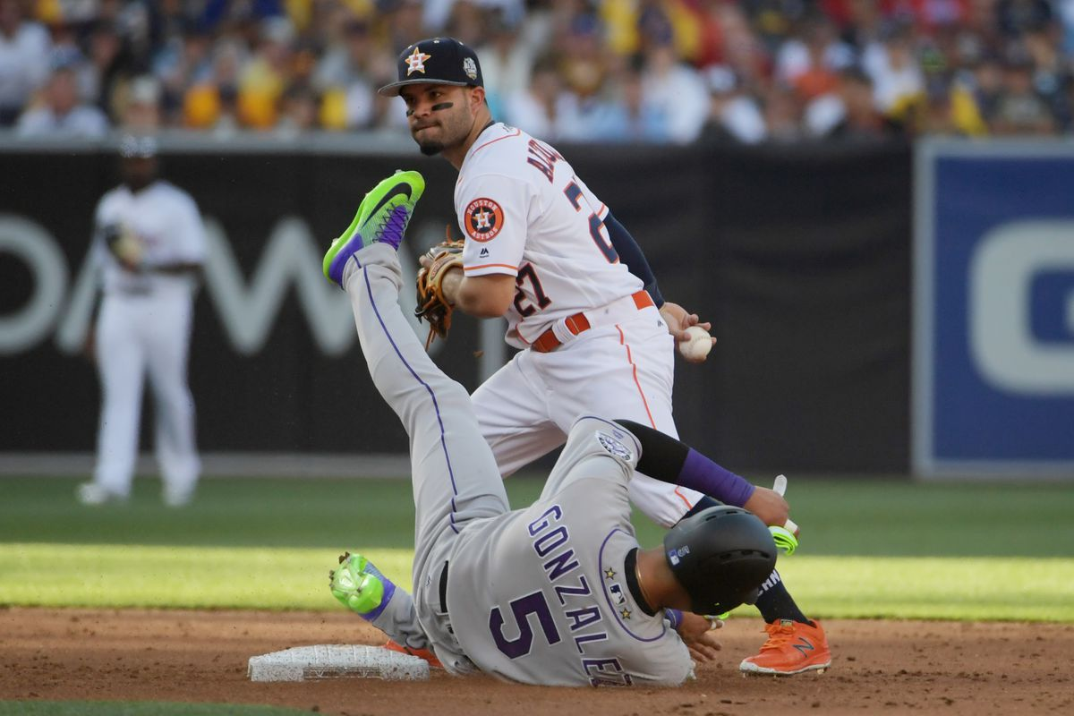 separation shoes 56c94 34eec MLB All-Star Game 2016: Rockies' Carlos Gonzalez, Astros ...