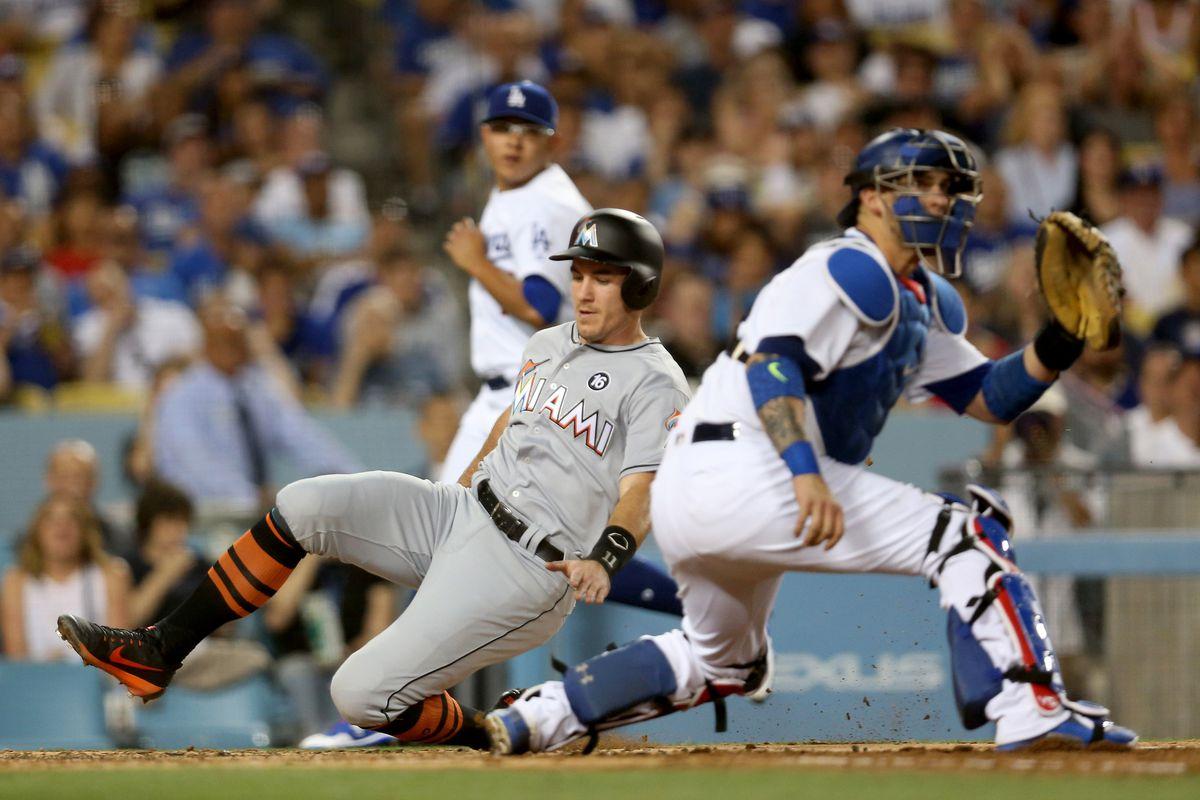 Miami Marlins v Los Angeles Dodgers