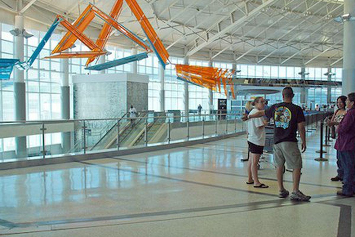 Inside Hobby Airport.