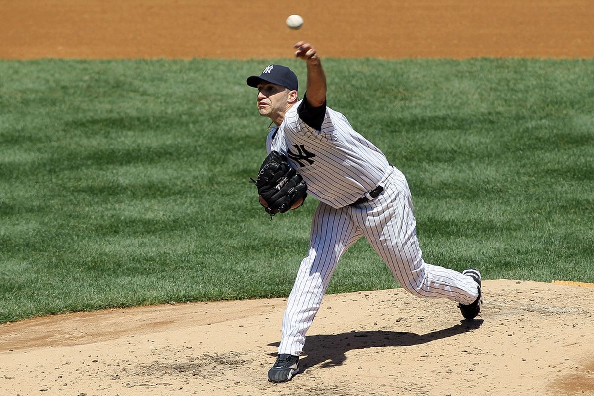 Andy Pettitte pitches Tuesday night for the New York Yankees. (Photo by Jim McIsaac/Getty Images)