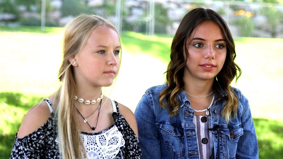 Sadie and Morgan, two teens who told police Flitton followed them in a Harmon's grocery store in July, causing them to become so scared that they ran out of the store, speak about their situation during an interview Aug. 5, 2019.