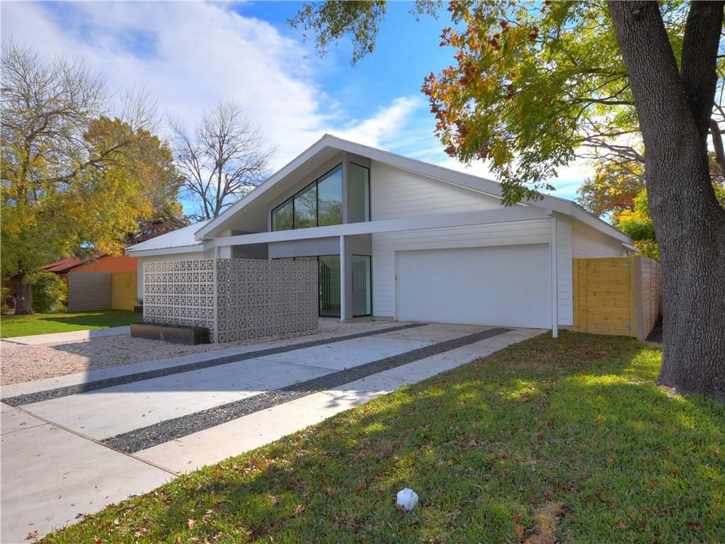 Midcentury Modern Style New Home In Austin Is Listed For