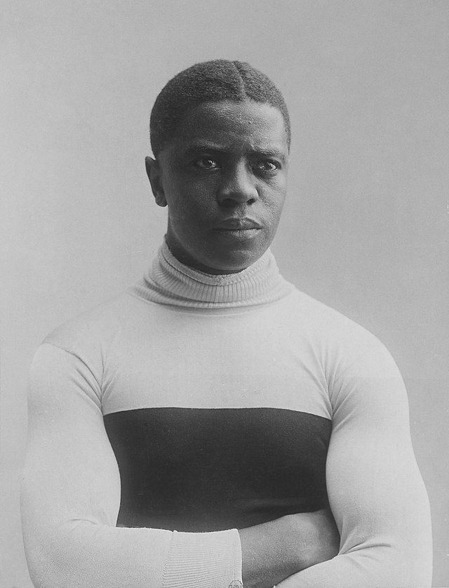 """Marshall """"Major"""" Taylor taken by French sports photographer Jules Beau in the early 1900s."""