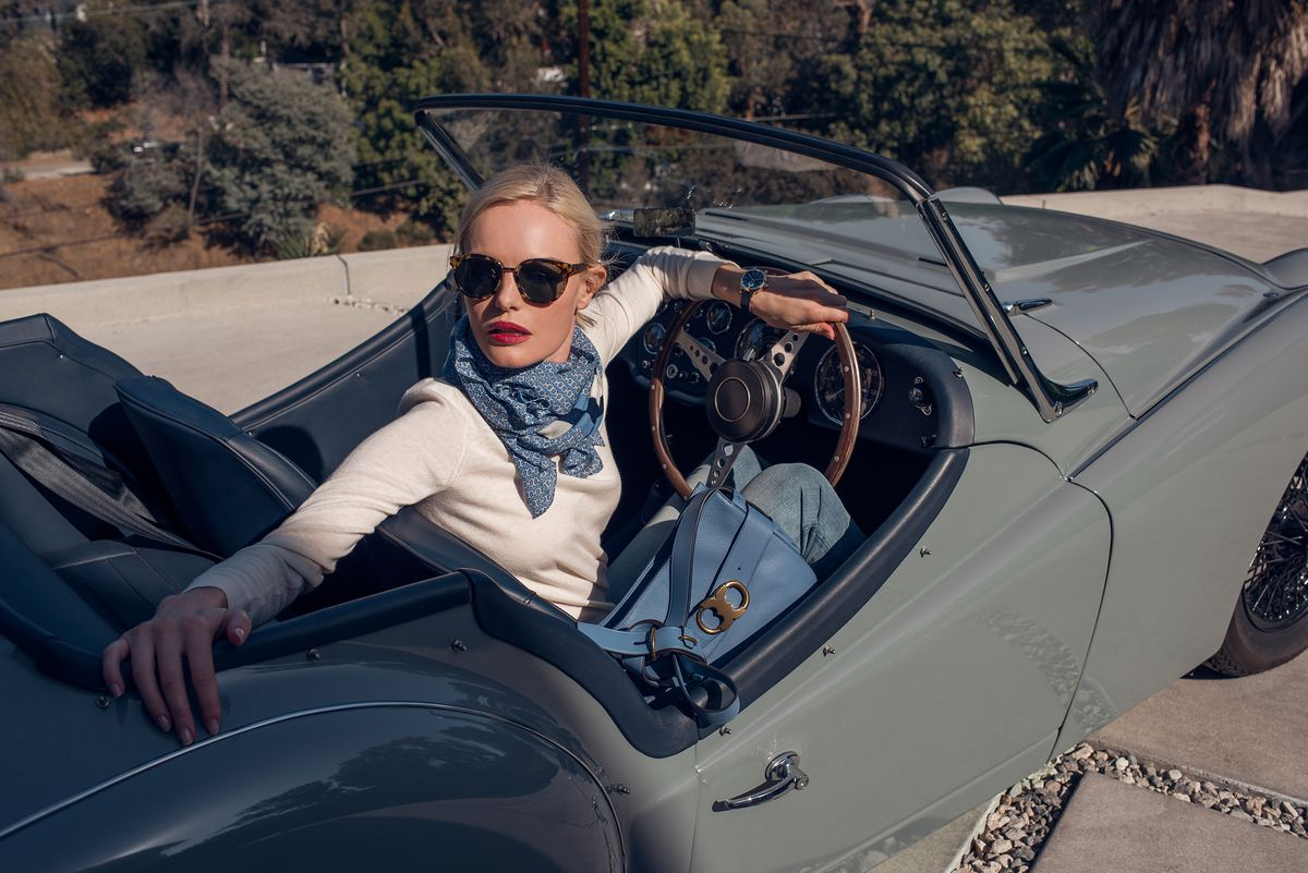 An image from Kate Bosworth's January 2017 Tory Burch campaign.