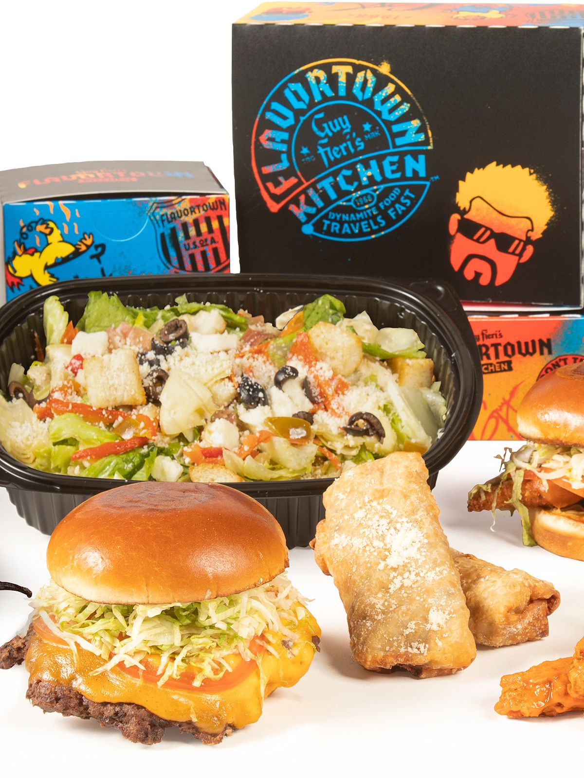 A collection of foods from Guy Fieri