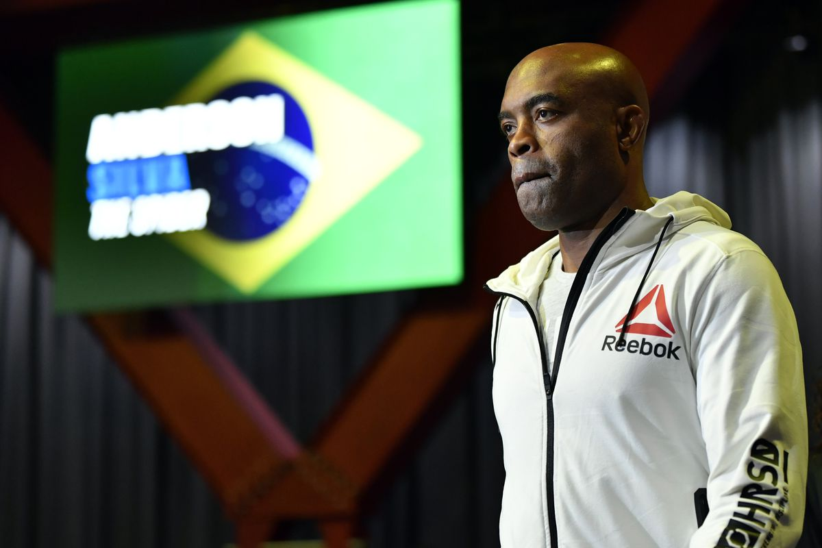 Anderson Silva before his fight against Uriah Hall.