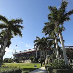 The stadium at Florida Atlantic University, used for the Boca Raton Bowl, is pictured in Boca Raton, Florida, on Tuesday, Dec. 22, 2020.