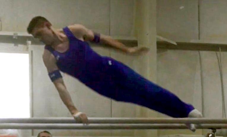 Ben Duncan doing gymnastics