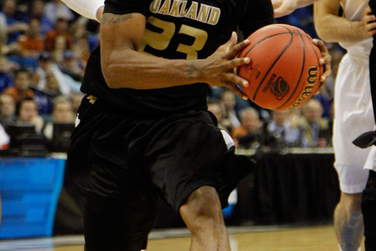 Will this be Reggie Hamilton's face on draft night? The Oakland point guard makes our list of five players you might be missing if you only look at the top 100.