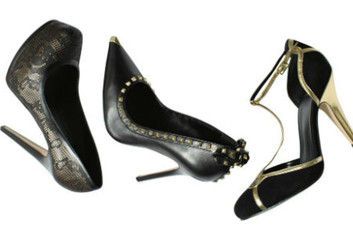 Three styles from Madonna's Truth or Dare line, via Footwear News