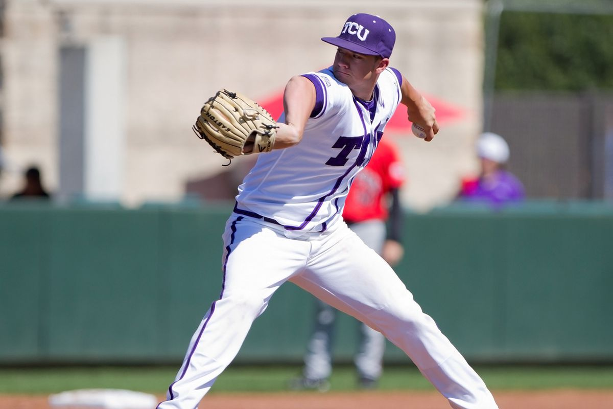 Brandon Finnegan takes the mound for the Frogs.