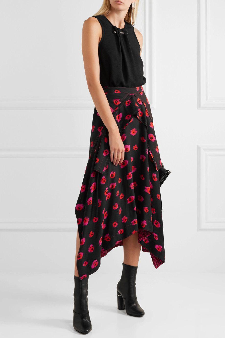 Proenza Schouler printed floral skirt