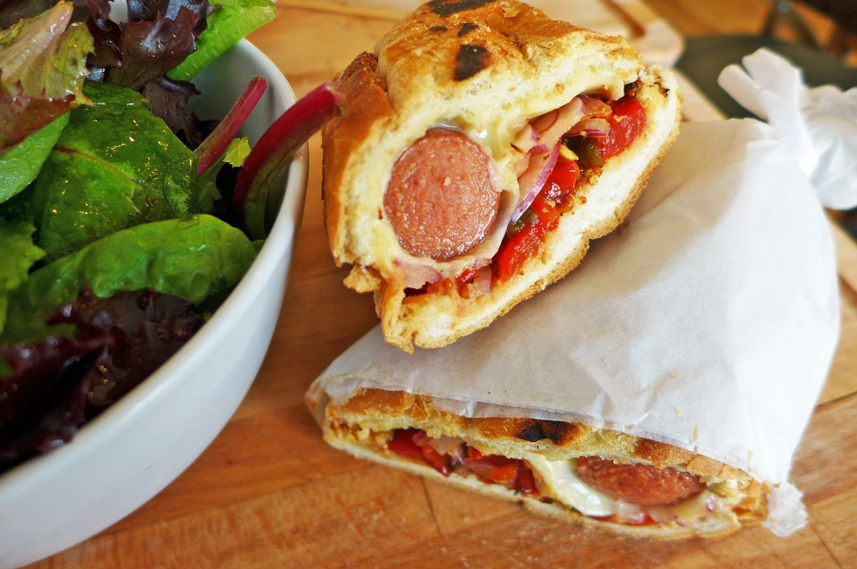 French hot dog at Bistro Eloise