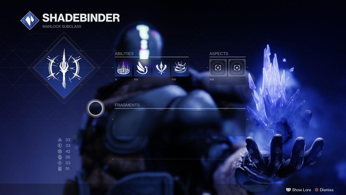 Warlock Shadebinder Optimization Tree