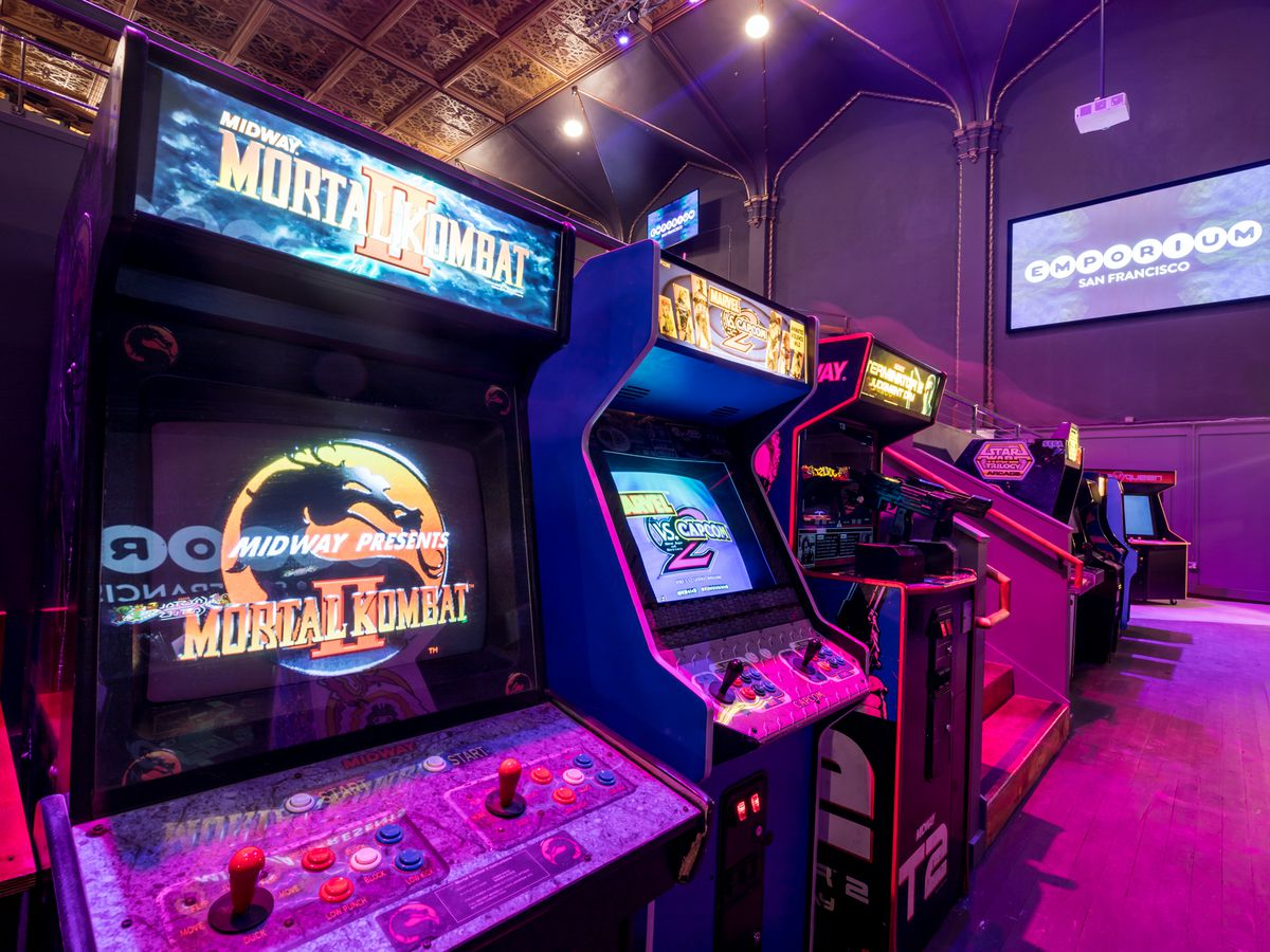 Arcade Game Wallpaper Group With 57 Items: San Francisco Bars With Great Arcade Games