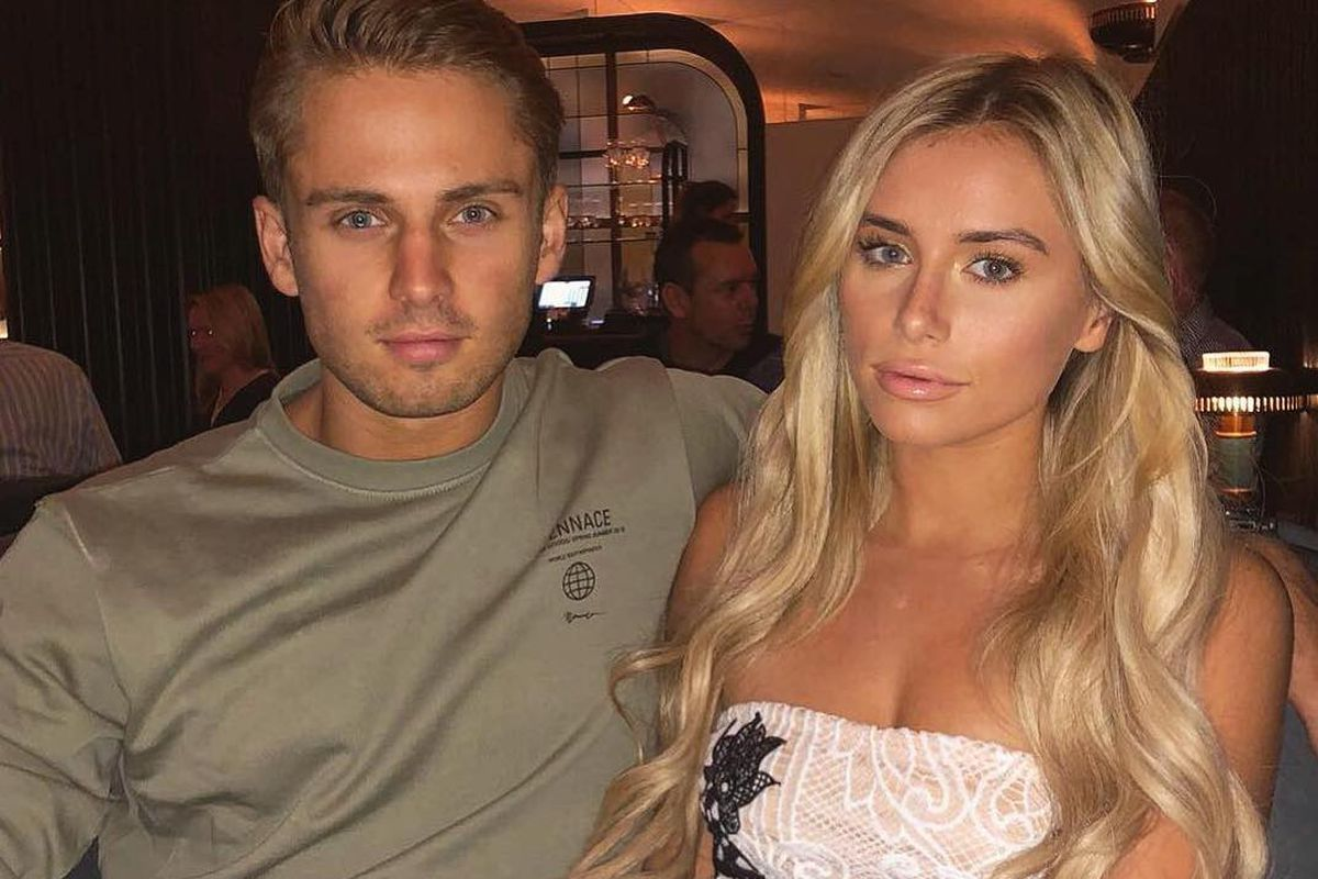 Love Island 2018 contestants Charlie Brake and Ellie Brown at dinner at London restaurant Hawksmoor