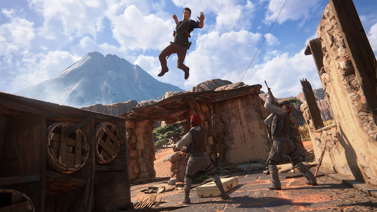 Uncharted 4 leaping attack